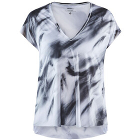 Craft Charge SS Loose Tee Women, white/multi